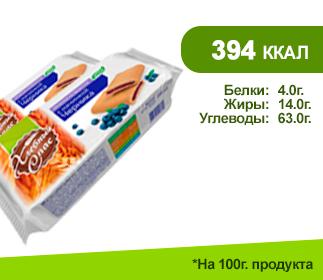 Печенье ХЛЕБНЫЙ СПАС 200гр.</br>черника на фруктозе