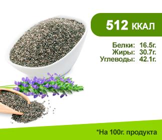 Семена ЧИА 100гр. </br>Чёрные